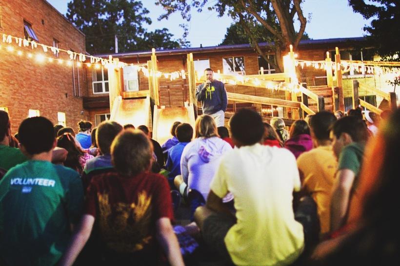 Tim Teaching Under Lights
